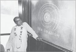 Maharaja at blackboard